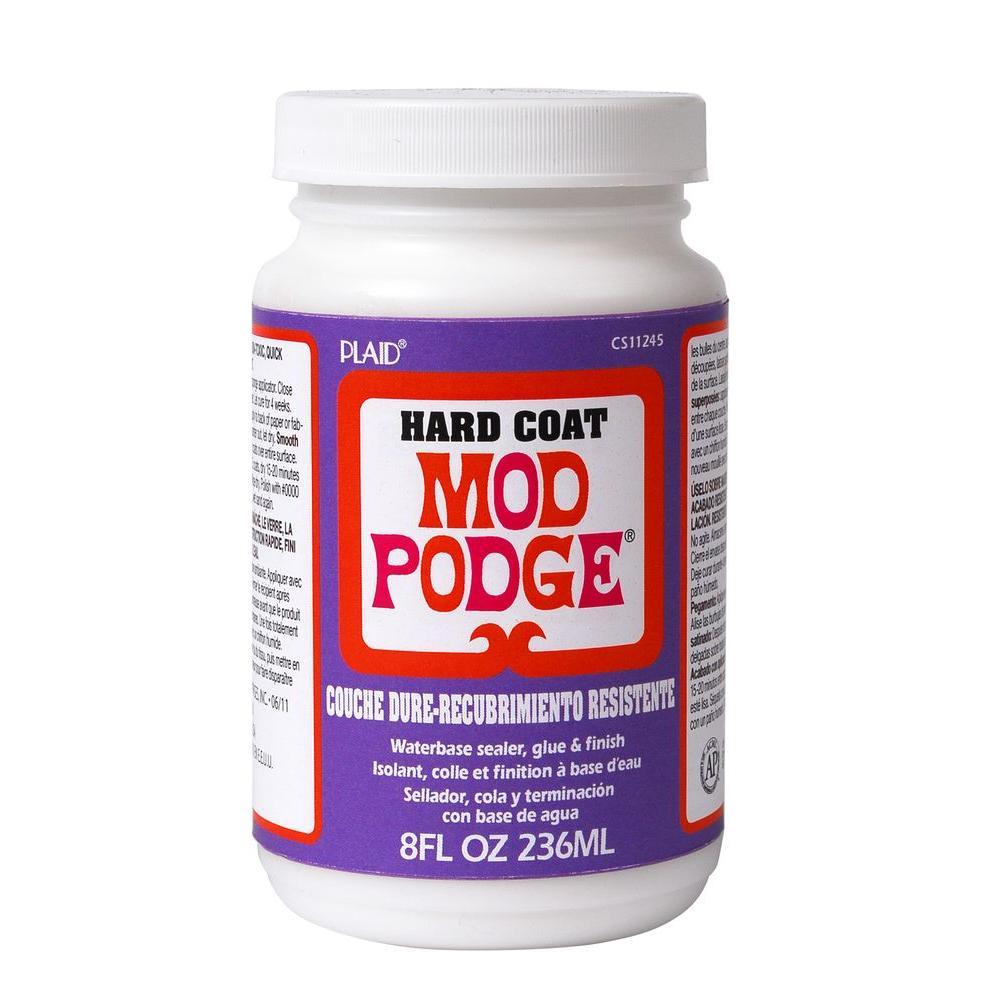 Mod podge 8 oz hard coat decoupage glue cs11245 the for Diy using mod podge