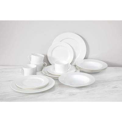 Bone China Modern Coupe 16-Piece Dinnerware Set, Boxed