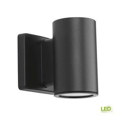 Cylinders Collection 1-Light Graphite Integrated LED Outdoor Wall Mount Cylinder Light