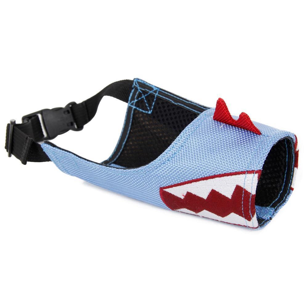 Medium Blue Fumigation Adjustable Designer Dog Muzzle