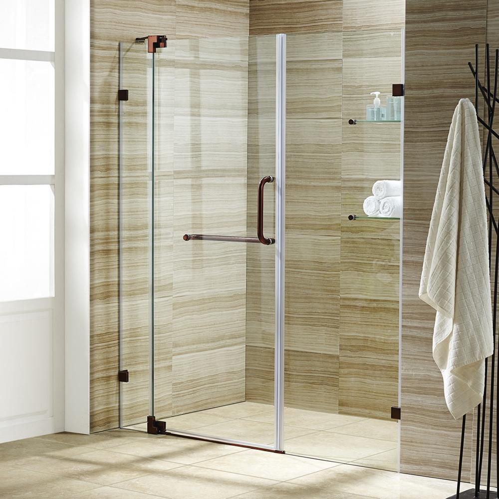 Vigo Pirouette 48 In X 72 In Frameless Pivot Shower Door