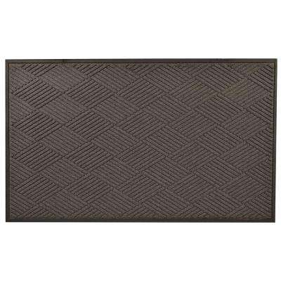 Opus Charcoal 24 in. x 36 in. Rubber-Backed Entrance Mat