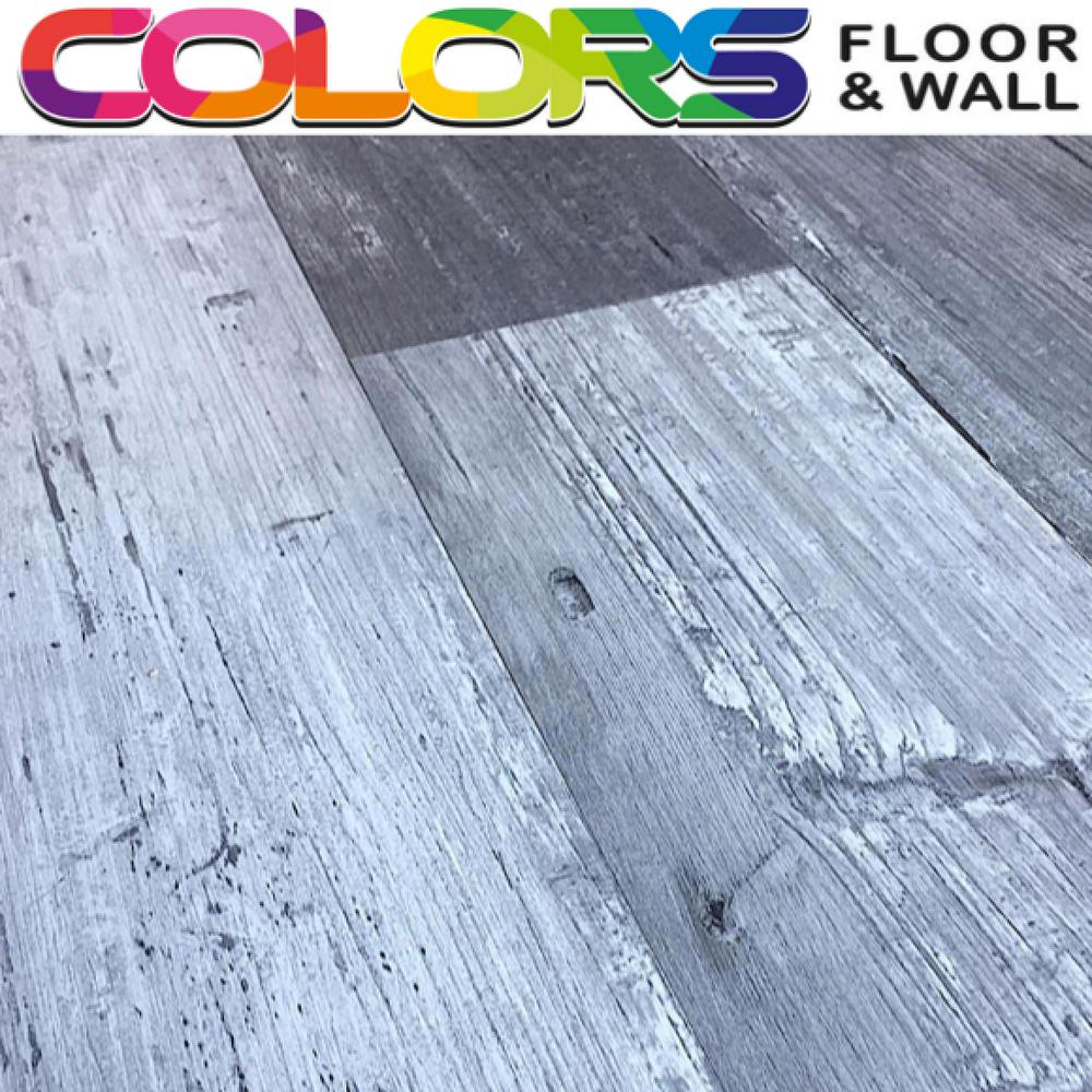 Deco Products Colors Floor and Wall DIY Mambo Wood Aged 6 in. x 36 in. Painted Style Luxury Vinyl Plank (30 sq. ft. / case)