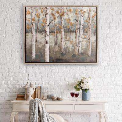 Amongst the Birch Treess Framed Canvas Wall Art