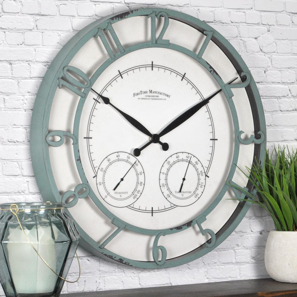 Round Laguna Outdoor Clock 99667 The Home Depot