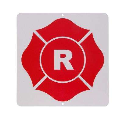 9 in. x 9 in. Roof Truss Aluminum R-Sign
