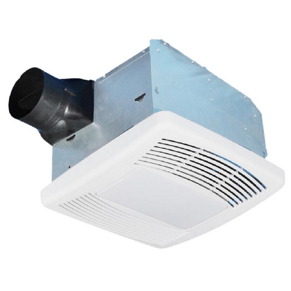 Kitchen Ceiling Exhaust Fan With Light: STERLING Ultra Quiet 80 CFM Ceiling Mount Exhaust Fan With