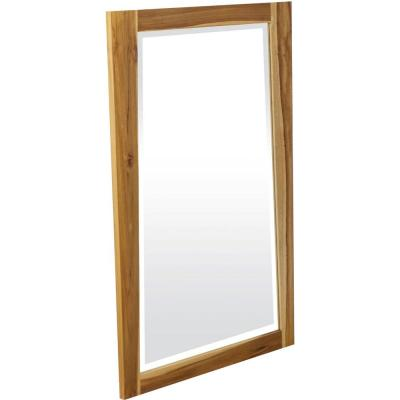 HomeRoots Victoria 2 in. x 24 in. Classic Rectangle Framed Brown Vanity Mirror