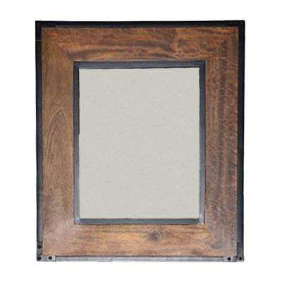 Landon 30 in. H x 26 in. L Wall Mirror in Brown