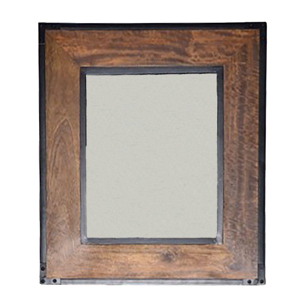 Carolina Cottage Landon 30 In H X 26 L Wall Mirror Brown