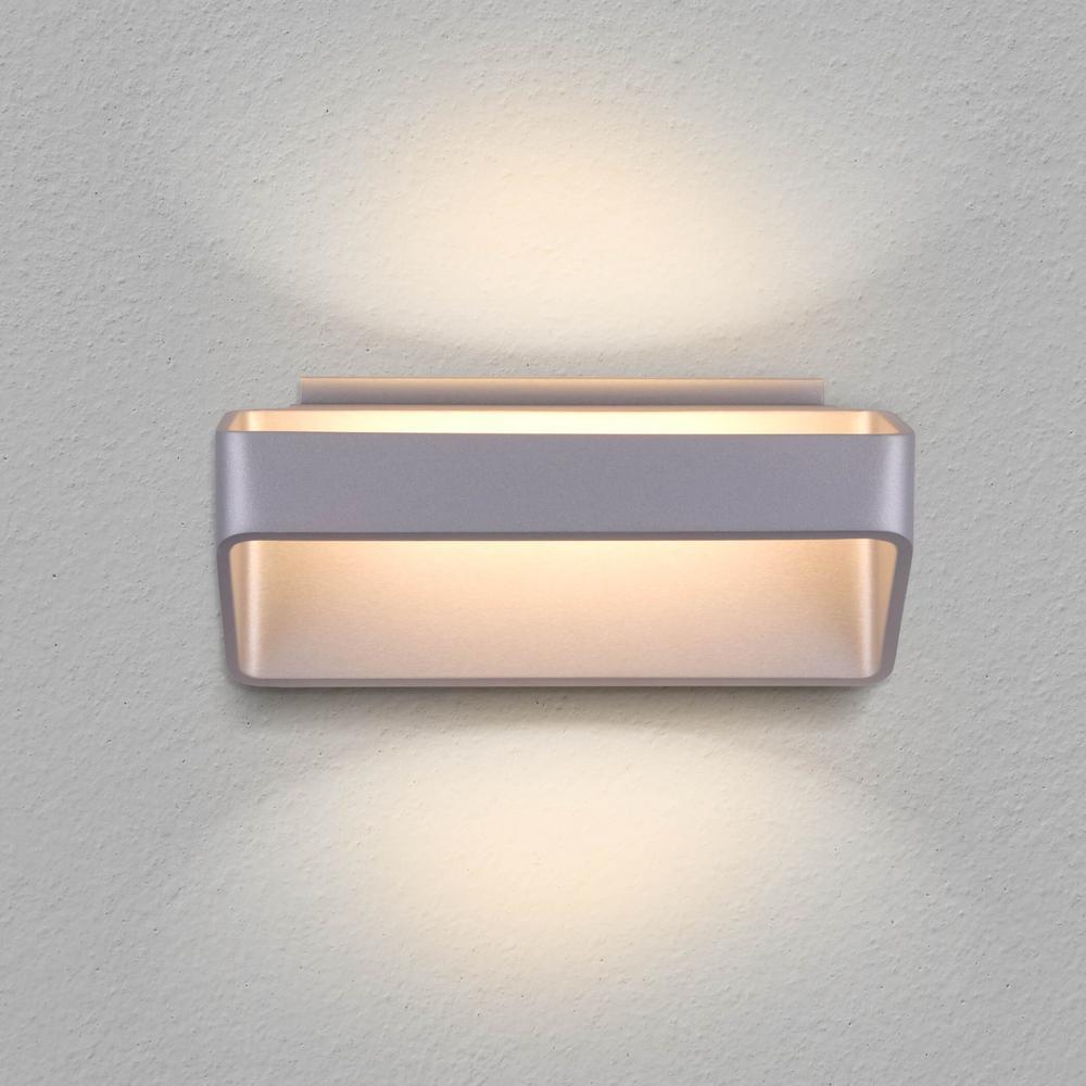 Atlas 16-Watt Silver Integrated LED Wall Sconce