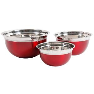 Oster Rosamond 3-Piece Stainless Steel Mixing Bowl Set by Oster