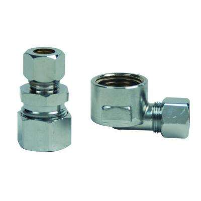 1/2 in. Compression and 1/2 in. FIP Brass Water Supply Adapter