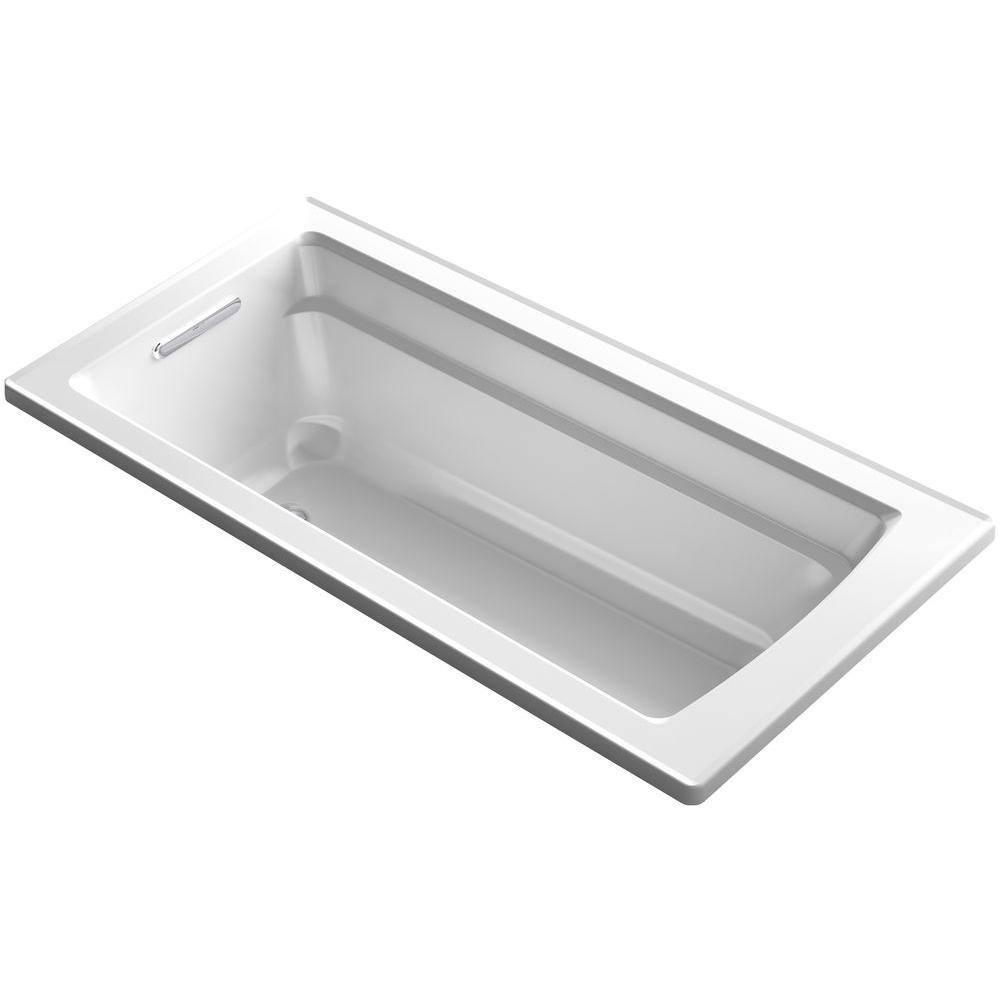 Archer 5.5 ft. Reversible Drain Bathtub in White