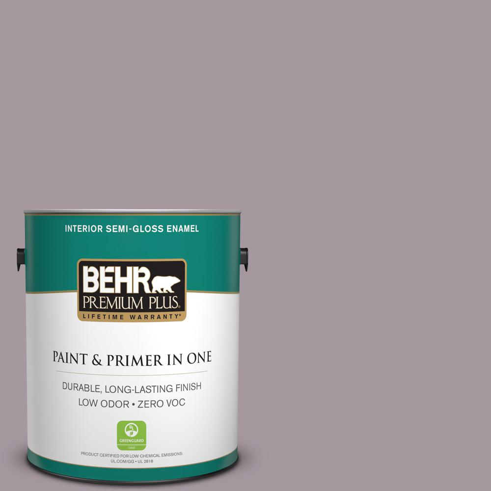 BEHR Premium Plus 1-gal. #N110-3 Fig Preserves Semi-Gloss Enamel Interior Paint