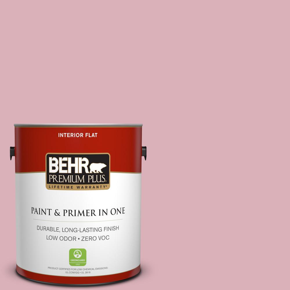 BEHR Premium Plus 1-gal. #ICC-54 Peony Zero VOC Flat Interior Paint