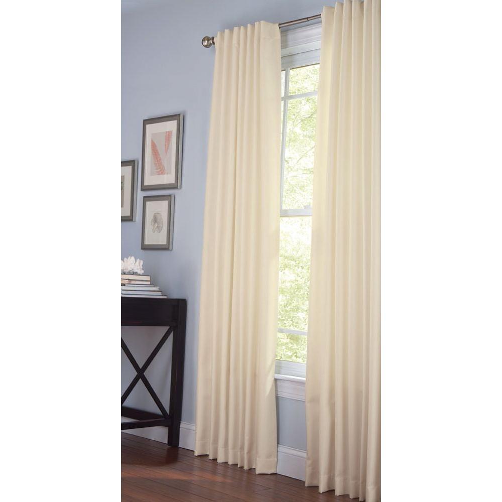 Martha Stewart Living Semi-Opaque Chopstick Thermal Crepe Back Tab Curtain