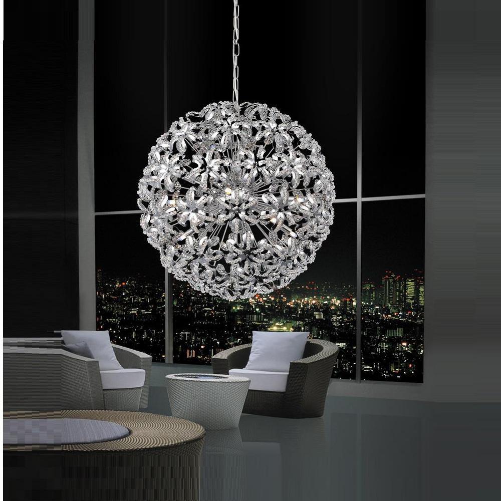 CWI Lighting Patricia 14-Light Chrome Chandelier-5410P24C - The Home ...