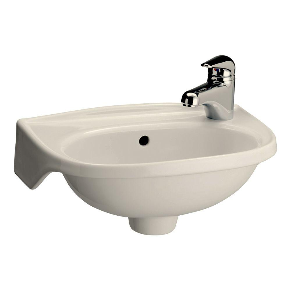 wall mounted bathroom sinks pegasus tina wall mounted bathroom sink in bisque 4 551bq 21325