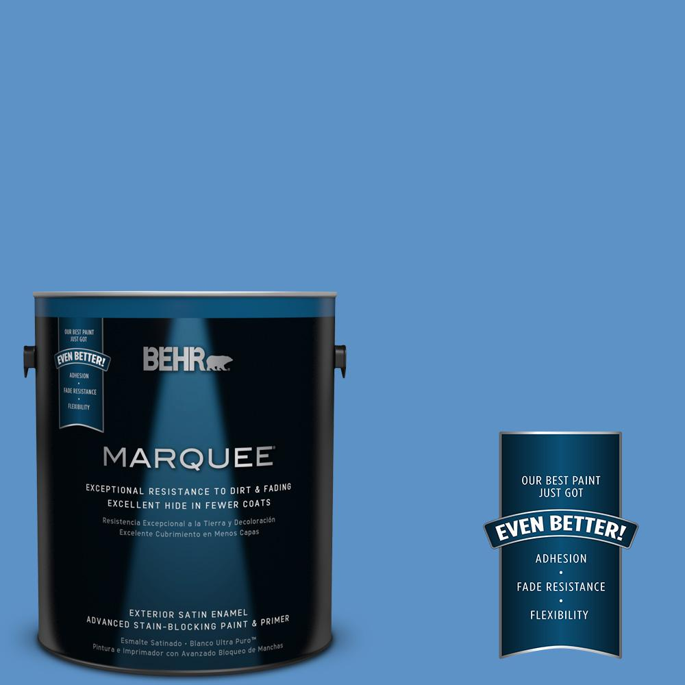 BEHR MARQUEE 1-gal. #MQ4-26 Come Sail Away Satin Enamel Exterior Paint