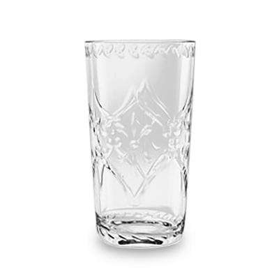 Scroll Cut 21.5 oz. Tumbler Clear (Set of 6)
