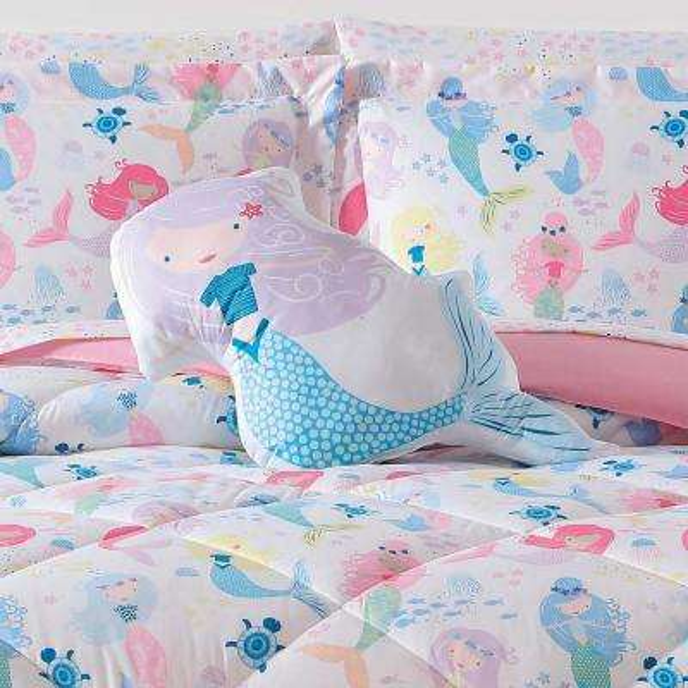 Kids Mermaids Shaped Pillow
