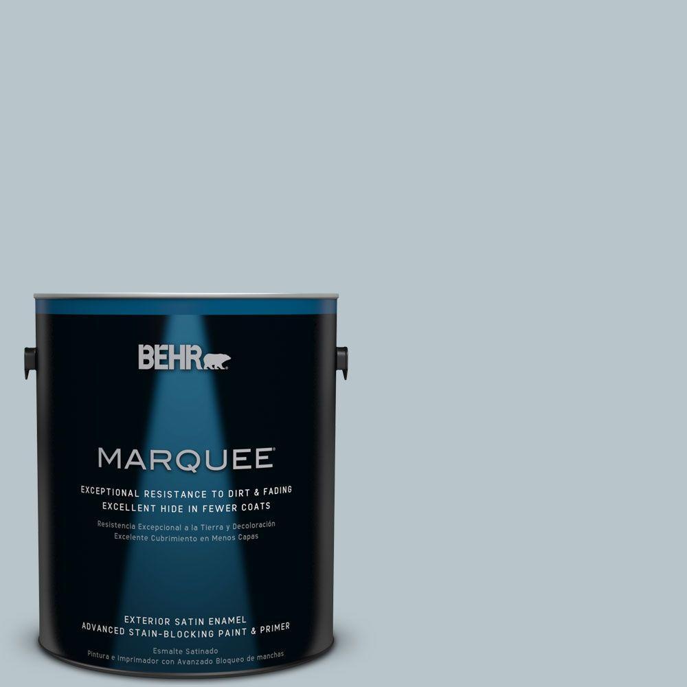 BEHR MARQUEE 1-gal. #ICC-46 Soft Denim Satin Enamel Exterior Paint