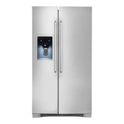 IQ-Touch 25.6 cu. ft. Side by Side Refrigerator in Stainless Steel, ENERGY STAR