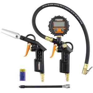 Deals on Freeman Digital Tire Inflator and High Flow Blow Gun Kit