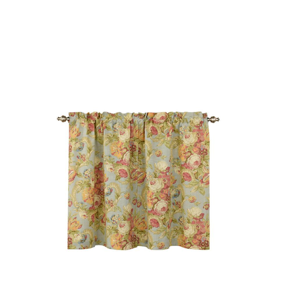 Spring Bling Window Curtain Tier Pair in Vapor - 52 in. W x 36 in. L