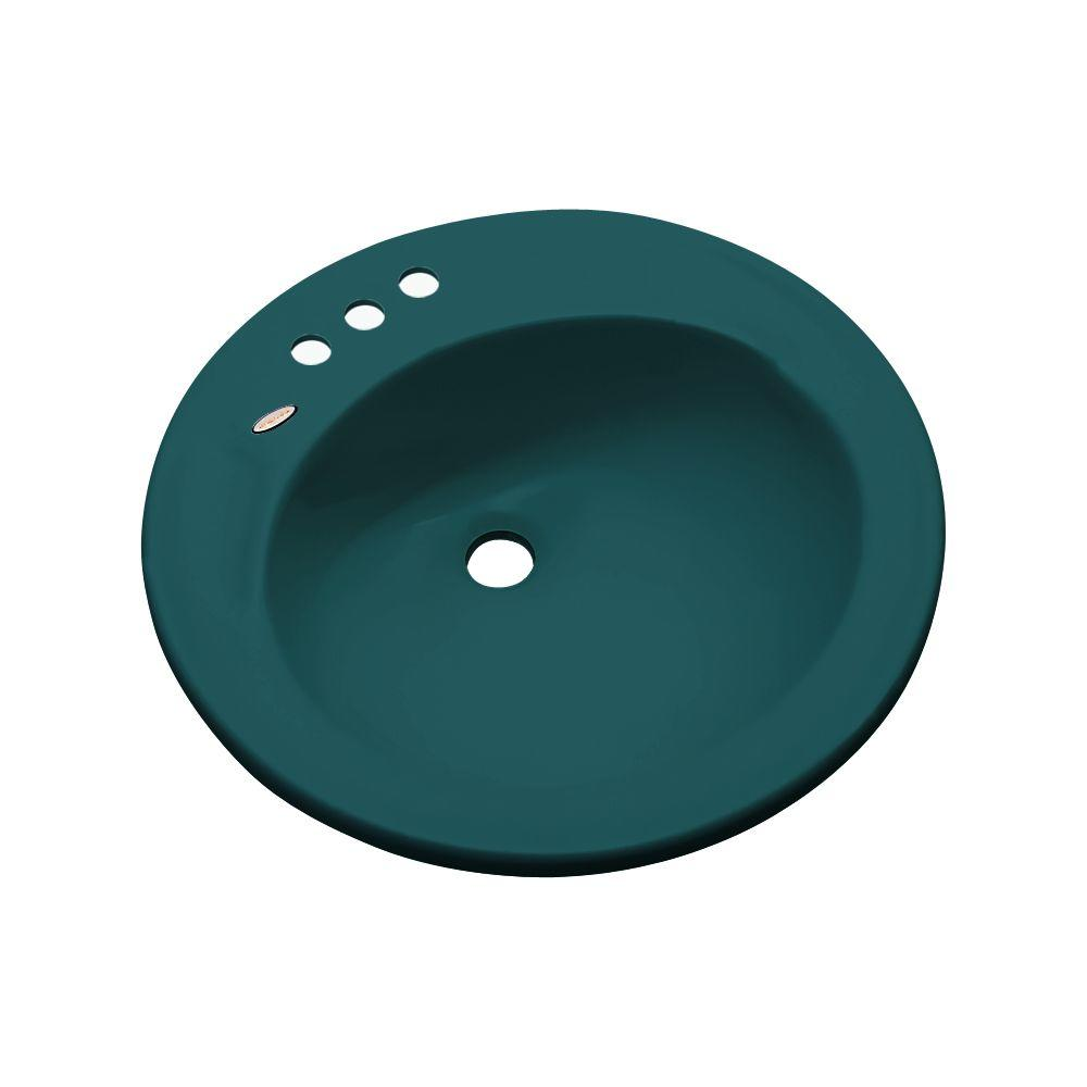 null Province Drop-In Bathroom Sink in Teal