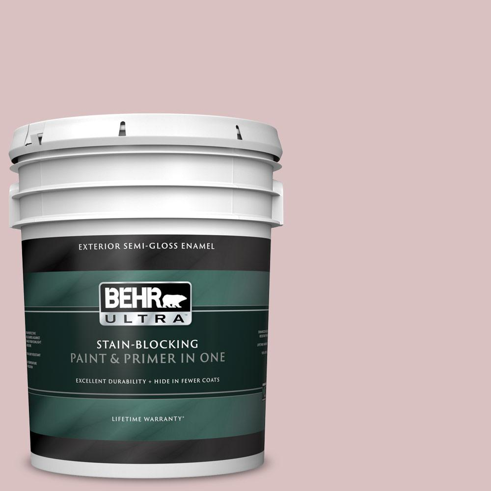 Reviews For Behr Ultra 5 Gal Ppu17 08 Peony Blush Semi Gloss Enamel Exterior Paint And Primer In One 585005 The Home Depot