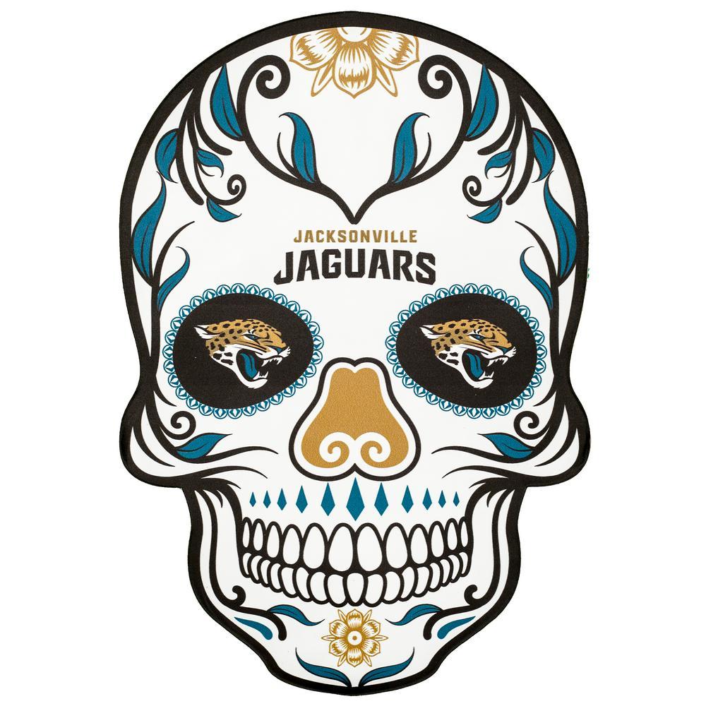 360728da NFL Jacksonville Jaguars Outdoor Skull Graphic- Small