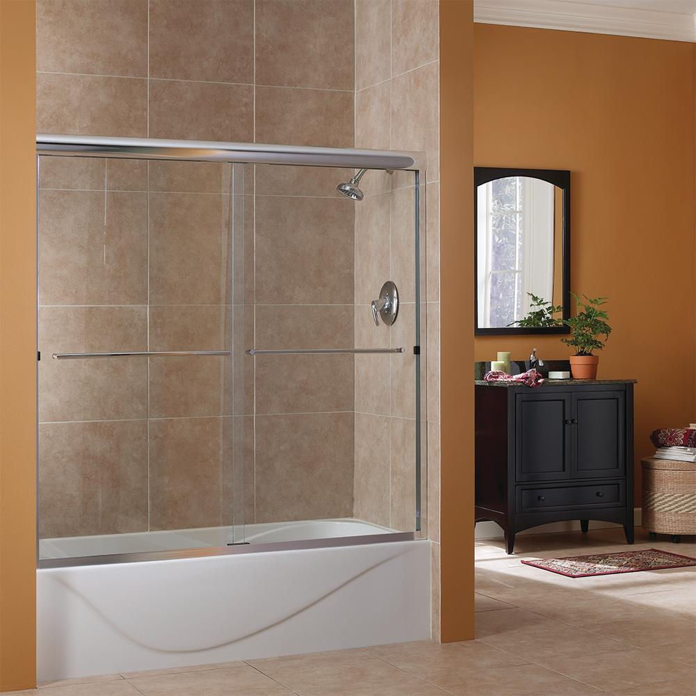 oil rubbed bronze bathtub doors foremost cove 60 in w x 60 in h frameless sliding tub 7148