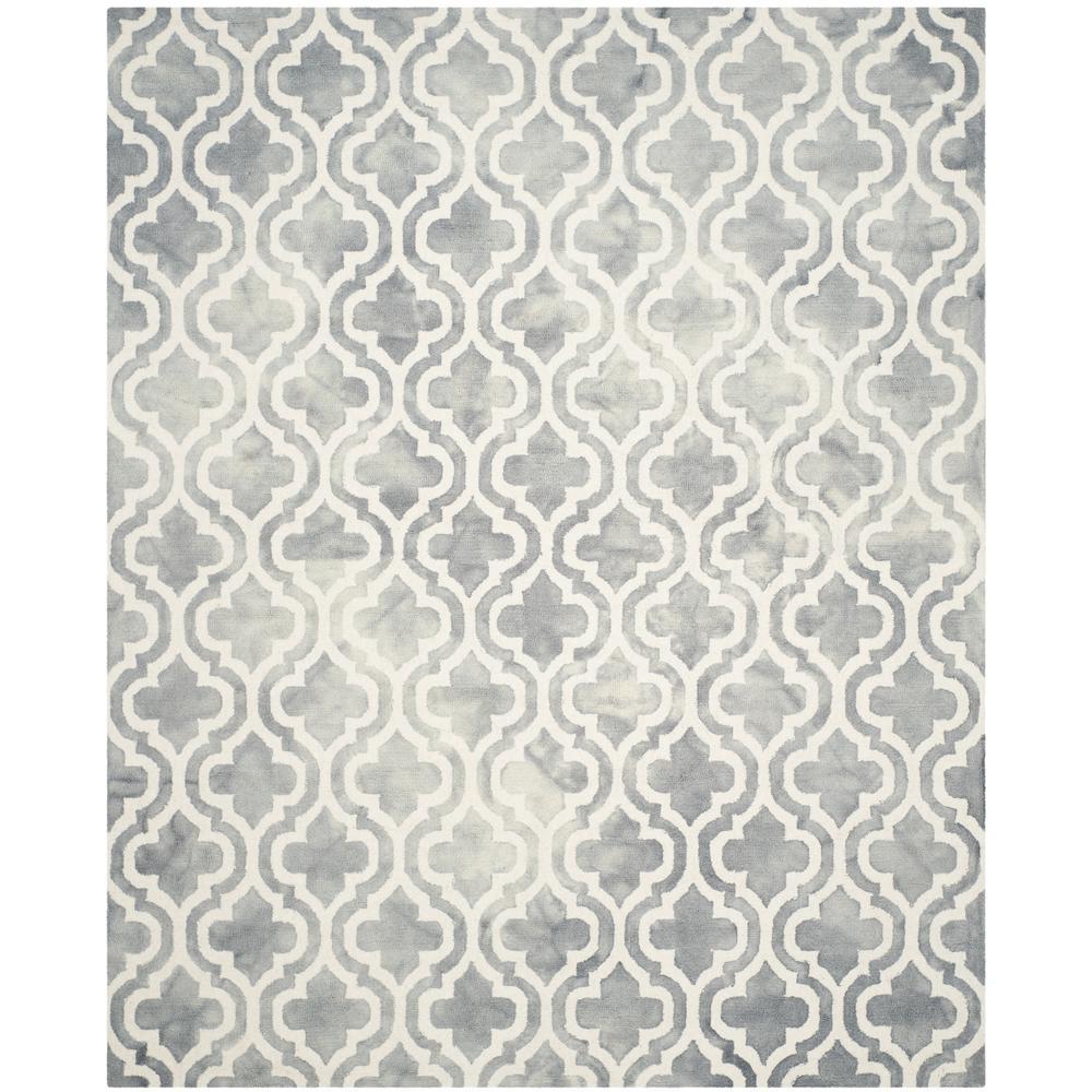 Dip Dye Gray/Ivory 9 ft. x 12 ft. Area Rug