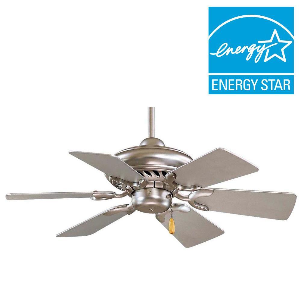 Supra 32 in. Brushed Steel Ceiling Fan