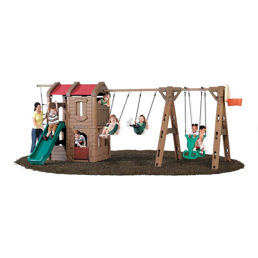 Step 2 Naturally Playful Advent Lodge Play Center with Gl...