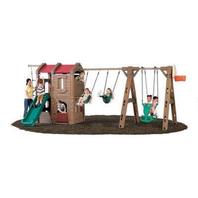 Naturally Playful Advent Lodge Play Center with Glider