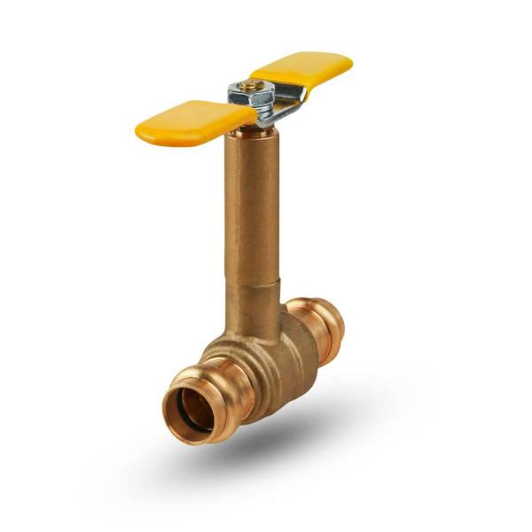 Premium Brass Press Ball Valve with Long Bonnet and T-Handle, with 3/4 in. Press Connections