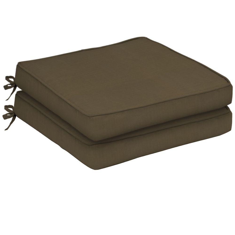 Arden Sunbrella Canvas Cocoa Single Welt Outdoor Seat Cushion (2-Pack)-DISCONTINUED