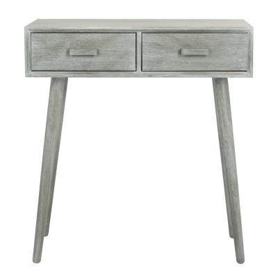 Dean 2-Drawer Slate Gray Console Table