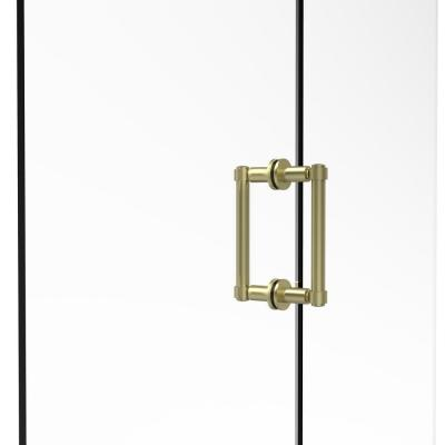 Contemporary 6 in. Back to Back Shower Door Pull in Satin Brass