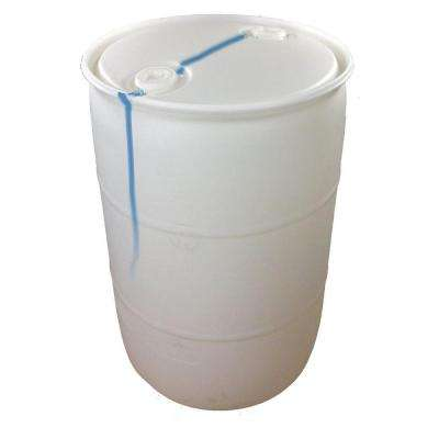 55 gallon Blemished Natural White Industrial Plastic Drum