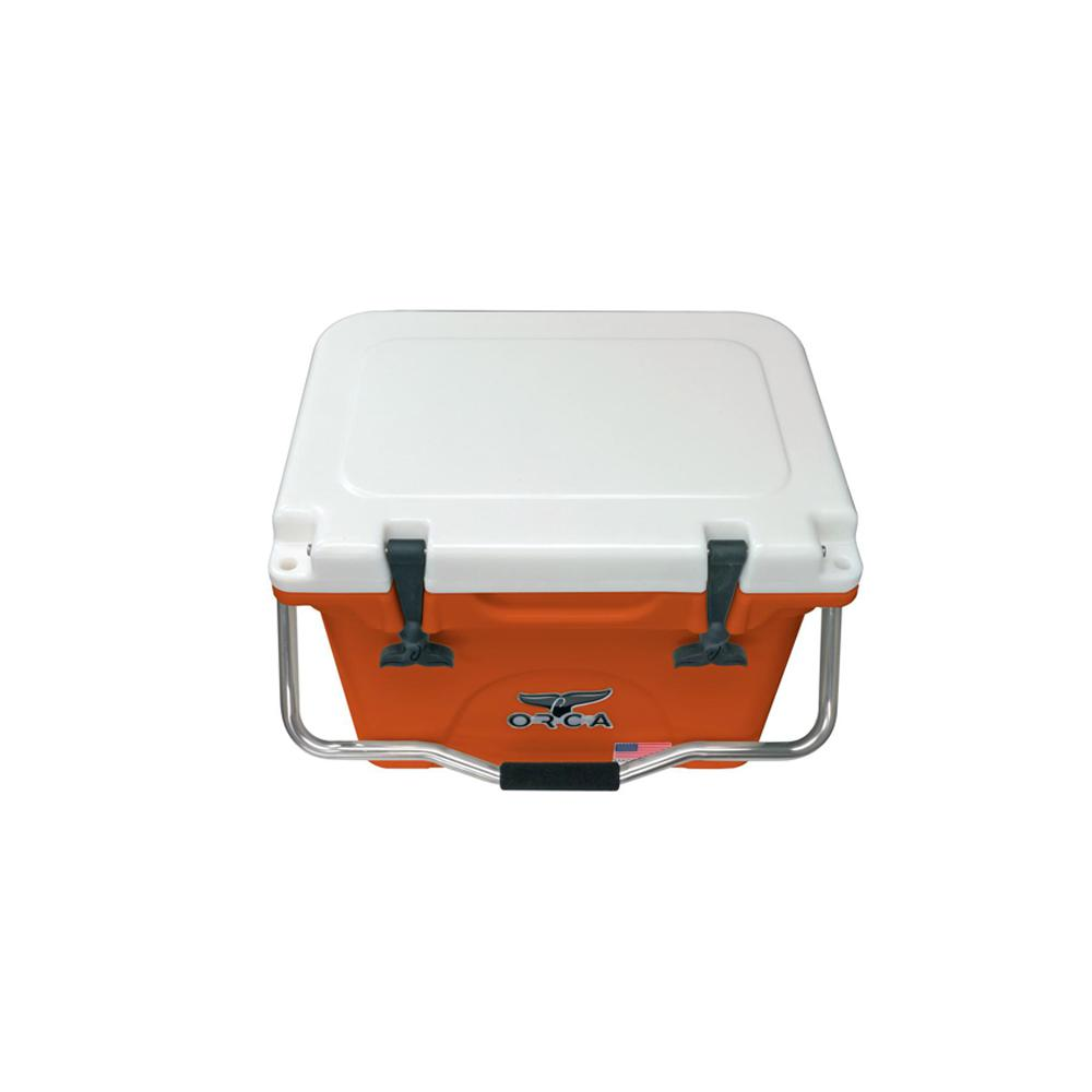 orca burnt orangewhite 20 qt coolerorcbowh020 the