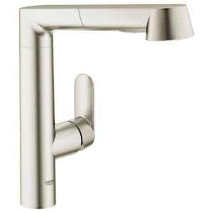 k7 main pullout sprayer kitchen faucet in supersteel