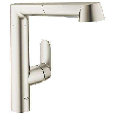 K7 Main Single-Handle Pull-Out Sprayer Kitchen Faucet in SuperSteel