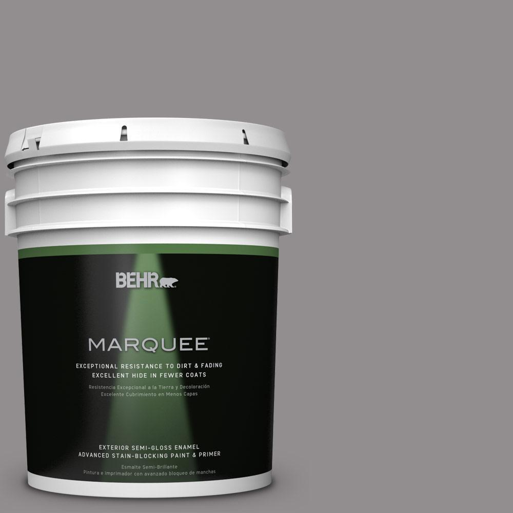 5-gal. #PPU16-14 Plum Smoke Semi-Gloss Enamel Exterior Paint