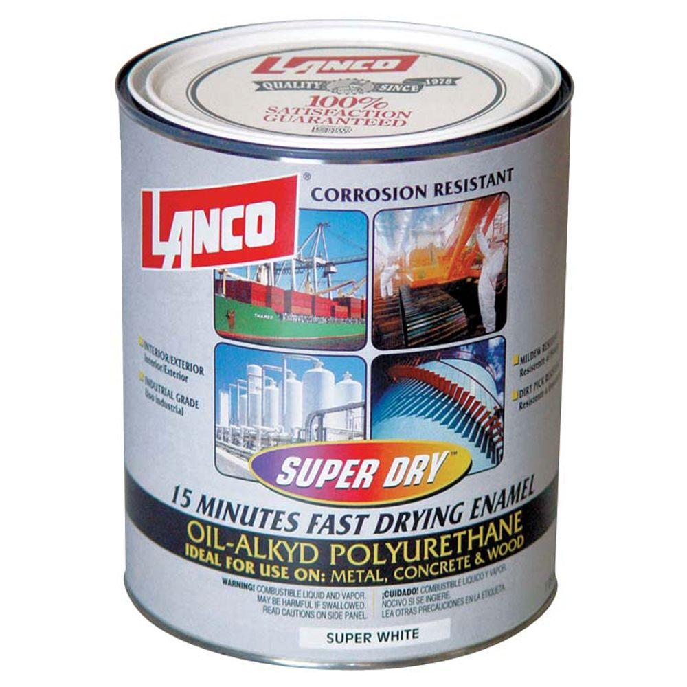 Super Dry 1 Qt High Gloss Oil Based White Interior Exterior Enamel