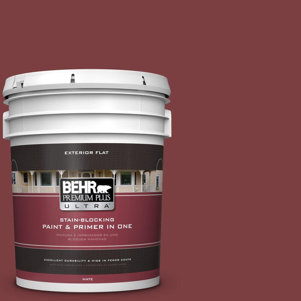 Home Decorators Collection 5-gal. #HDC-CL-11 January Garnet Flat Exterior Paint