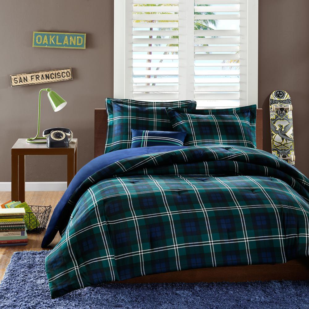 Cameron 3-Piece Blue Twin Comforter Set